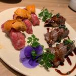 牛肉寿司(しゃぶしゃぶKINTAN 表参道店)