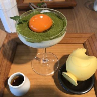 抹茶プリン(しょうゆ きゃふぇ)