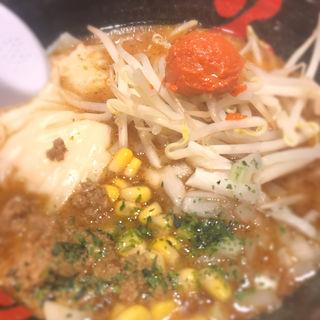 辛味噌エビワンタン麺(酒田ラーメン 花鳥風月)