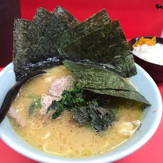 チャーシュー麺+海苔+小ライス(千家 根岸店)