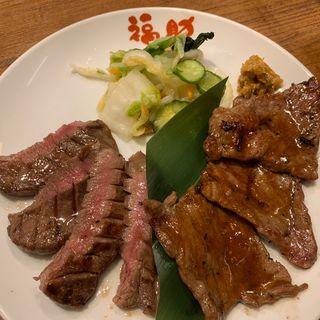 牛タン&牛ハネシタタレ焼き定食(福助 神戸ハーバーランドumie店 )