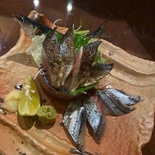 新秋刀魚のお造り(海やびの )