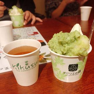 ずんだ餅パフェ(お茶の井ヶ田 一番町本店 )
