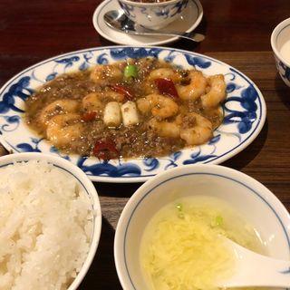 本場四川省のエビチリ(陳麻婆豆腐 クイーンズスクエア店 (チンマーボードウフ))
