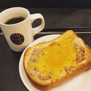 厚切りトースト ツナチェダーメルト(タリーズコーヒー 上野広小路店 (TULLY'S COFFEE))