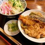 冷たいお蕎麦と天丼のセット(福招庵 (ふくしょうあん))