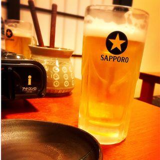 サッポロ黒ラベル生ビール(中)