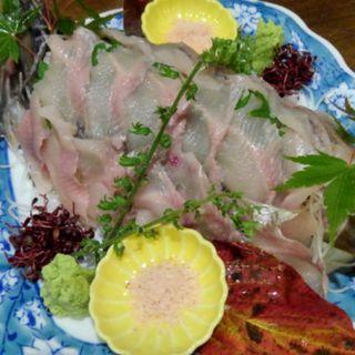 岩魚、山女魚の刺身(小川の魚 (オガワノサカナ))