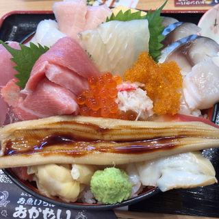 特選女川丼(お魚いちば おかせい)