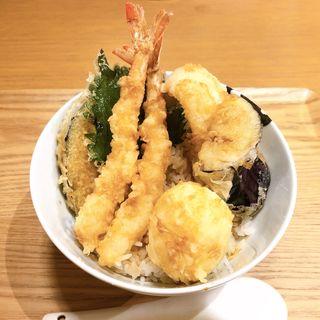 海老天丼(うどんダイニング 弥栄)
