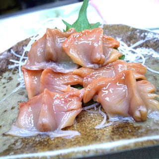 赤貝刺し身(大衆酒場 小松)