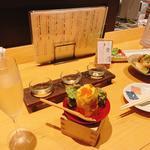 いくらぶっかけポテトサラダ(ぬる燗佐藤 御殿山茶寮)
