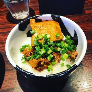 チャーシュー肉ご飯(麺屋武蔵 武骨 御徒町店)