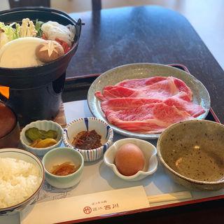 近江牛お昼のすきやき(まるたけ近江西川)
