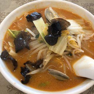 アサリと野菜たっぷりピリ辛タンメン(中国料理 保昌本館)