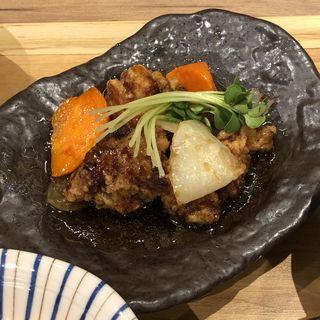 鶏黒酢野菜あんかけ(膳や musi-vege+ 阪急三番街店)