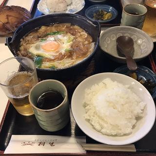 すき焼きうどん定食(相生餅食堂 )
