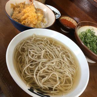 そばミニ天丼セット(かねいしうどん)