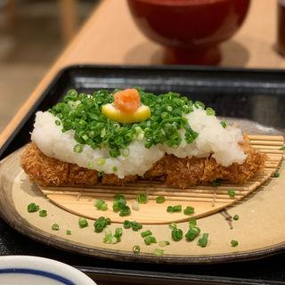 やまと豚ねぎおろしかつ定食(とんQ 柏高島屋ステーションモール店 (キュー))