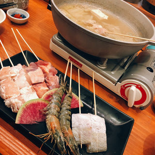 鶏白湯 濃厚串鍋(博多串工房 フタクチ)