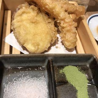 欲張りな天婦羅盛り合わせ(鮨・酒・肴 杉玉 阿佐ヶ谷)