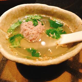 タンつみれと糸三つ葉の昆布スープ(うしごろ 貫 恵比寿本店 )