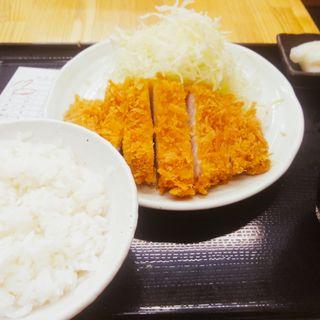 ロースカツ定食(とんかつ まるや有楽町店)