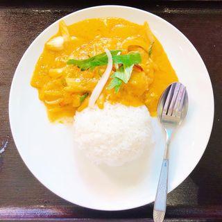 海老のパットポンカリーセット(スープをトムヤムスープに変更)(ガイ)