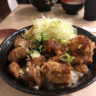 豪快 ロックステーキ唐揚げ合盛り丼(伝説のすた丼屋 お茶の水店 )