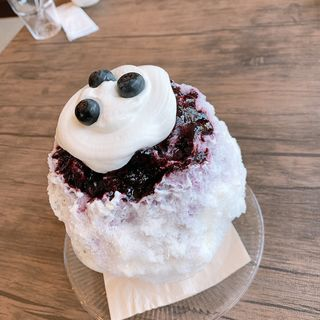 生ブルーベリーのクリームチーズみるく(氷屋cafe 旬果)