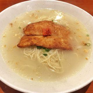 軍鶏水炊きらーめん(鳥料理 有明 (とりりょうりありあけ))