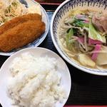 小ちゃんぽん白身魚フライセット(ちゃんぽんセンター)