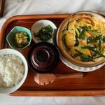 仙台油麩のニラ玉定食