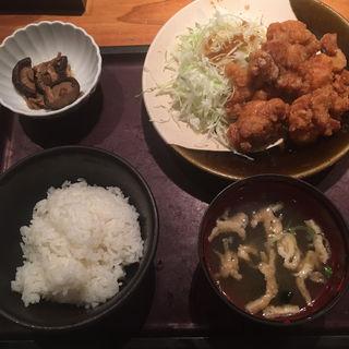 鶏の唐揚げ明太風味定食(やまや 大崎店 )
