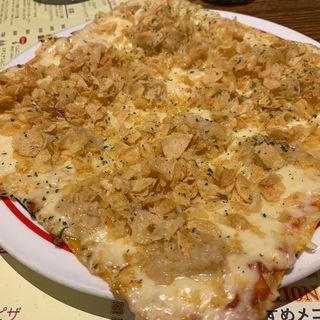 3種のにんにく!デラックスガーリックピザ(ガーリック・ジョーズ クイーンズクスエア店 (GARLIC JO'S))