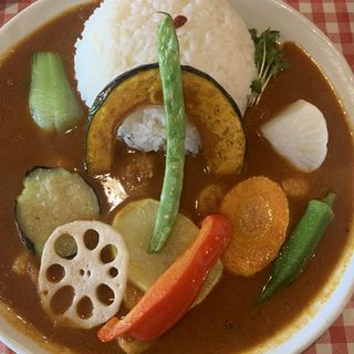 シュリンプカレー 野菜トッピング(小林カレー)