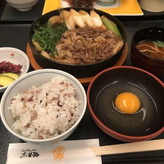 すきやき定食(上)(木曽路 銀座5丁目店 (キソジ))