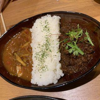 キーマカレー×スープきのこカレー(コスギカレー (KOSUGI CURRY))