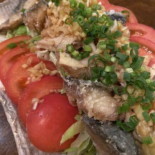 鯖の油淋鶏(家庭料理 かわじ)