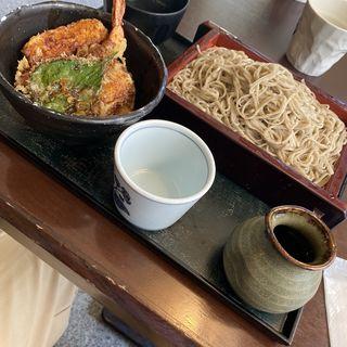 天丼セット麺大盛り(稜花 )