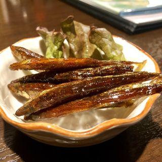 キビナゴの煮物(鉄板居食屋 進)