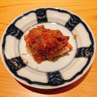 せいこ蟹の蒸し寿司(鮨 大地 )