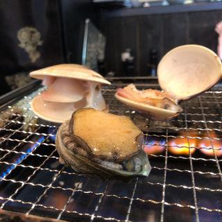 貝焼きセット(アワビとハマグリ)