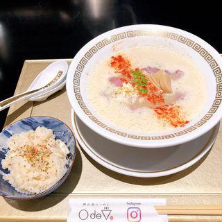 鯛白湯とろり、鯛めしセット(鯛白湯らーめん ○de▽)