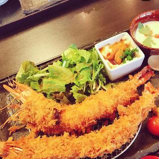 エビフライ定食(そう馬久留米店)