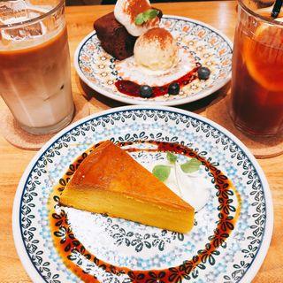 かぼちゃプリン ドリンクセット(カフェ フレディ)