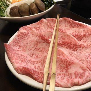 しゃぶしゃぶ(和牛霜降肉)(木曽路 銀座5丁目店 (キソジ))