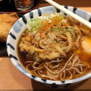 朝食セット (天玉そば+お稲荷)(そば新 )