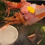当店の刺身は一味違う!開けてびっくり玉手箱食べてびっくり『瞬間即殺鮮魚』の7種盛り!(俺の魚を食ってみろ!! 神田南 )