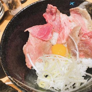 ローストビーフご飯(牛骨ら〜めん ぶっこ志 北浜店)